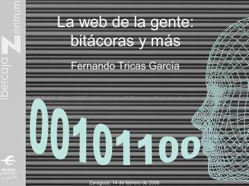 La web de la gente: bitácoras y más