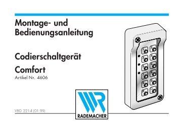 Montage- und Bedienungsanleitung Comfort ... - Garagentorantrieb.