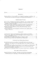 Inhaltsverzeichnis - H-Soz-u-Kult