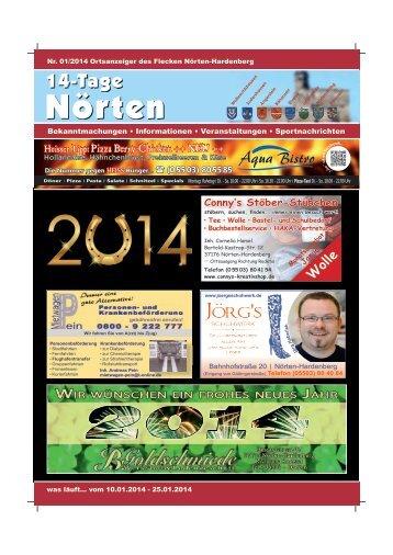 Ausgabe 01 - 14-Tage-Nörten