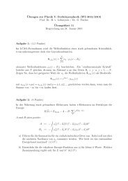 ¨Ubungen zur Physik V: Festkörperphysik (WS 2012/2013) Prof. Dr ...