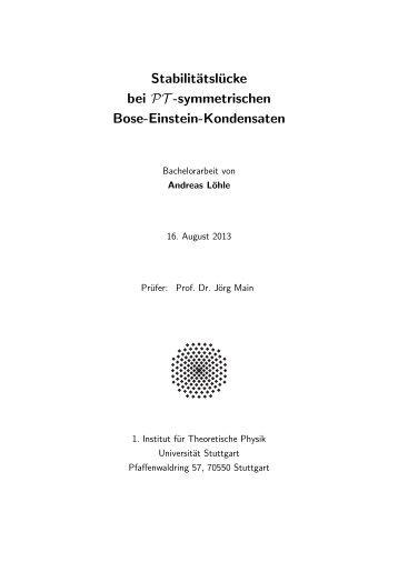 834k - Institut für Theoretische Physik der Universität Stuttgart