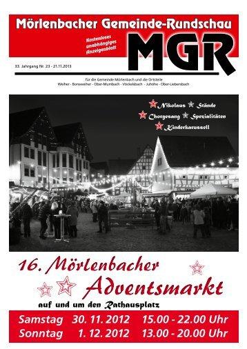 Adventsmarkt Adventsmarkt - gemeinde-rundschau.de