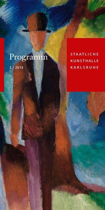 Programm - Staatliche Kunsthalle Karlsruhe