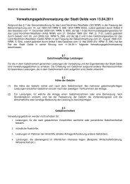 Verwaltungsgebührensatzung der Stadt Oelde vom 13.04.2011