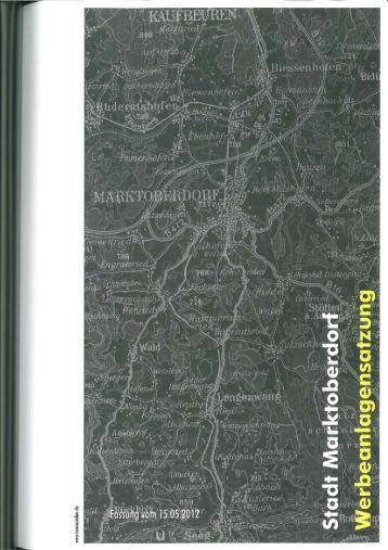 300_03 - Werbeanlagensatzung - Stadt Marktoberdorf