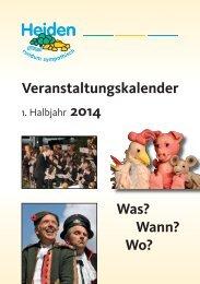 Veranstaltungskalender 1. Jahreshälfte 2014 - Gesamtausgabe