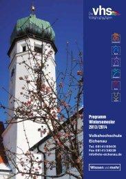 Programm Wintersemester 2013 / 2014 - Vhs Eichenau