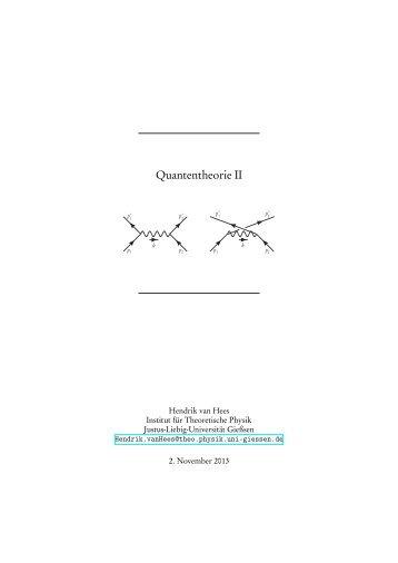 Quantentheorie II - FIAS