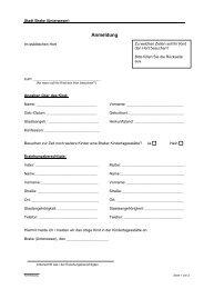 Antragsformulare für den Hortbesuch in der Stadt Brake (Unterweser)
