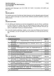 Satzungstext für Ortsrecht - Stadt Herdecke