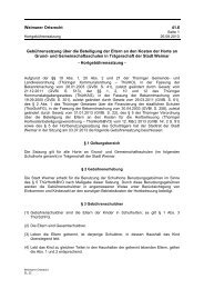 Weimarer Ortsrecht 41.6 Gebührensatzung über die ... - Stadt Weimar