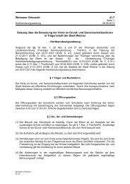 Weimarer Ortsrecht 41.7 Satzung über die ... - Stadt Weimar