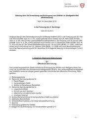 Ortsrecht der Landeshauptstadt Kiel - Abfallwirtschaftsbetrieb Kiel