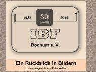 30jähriges - ein rückblick in bildern - IBF Bochum