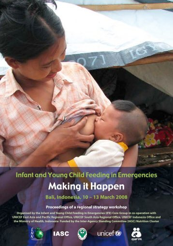Infant and young child feeding in emergencies. Making it ... - IBFAN