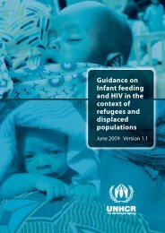 Guidance on Infant feeding and HIV in the context of refugees - IBFAN
