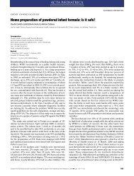 Home preparation of powdered infant formula: is it safe? - IBFAN
