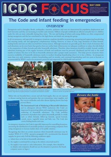The Code and infant feeding in emergencies - World Breastfeeding ...