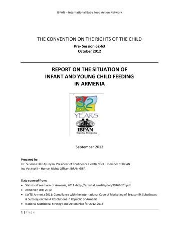 Child rights and health ngos making a difference ibfan - Office for the high commissioner for human rights ...