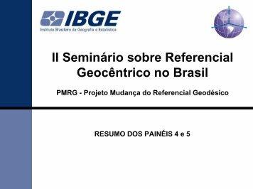 Sumário dos Painéis 4 e 5 - IBGE