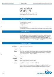 Technisches Datenblatt VE 123 - Bito AG