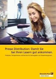 Presse Distribution: Damit Sie bei Ihren Lesern gut ... - Deutsche Post