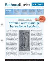 Rathauskurier 20 2013 - Stadt Weimar