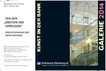 EMOTION UND EXPRESSION - Volksbank Oberberg eG