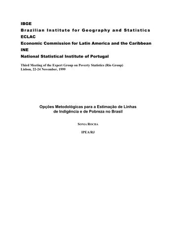 IBGE Brazilian Institute for Geography and Statistics ECLAC ...