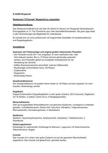 D-42289_Wuppertal_Il Principe_15042013.pdf - Warsteiner Gruppe