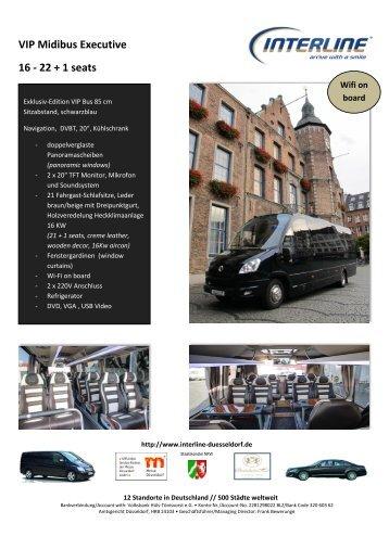 VIP Midibus Executive 16 - 22 + 1 seats