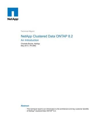 NetApp Clustered Data ONTAP 8.2