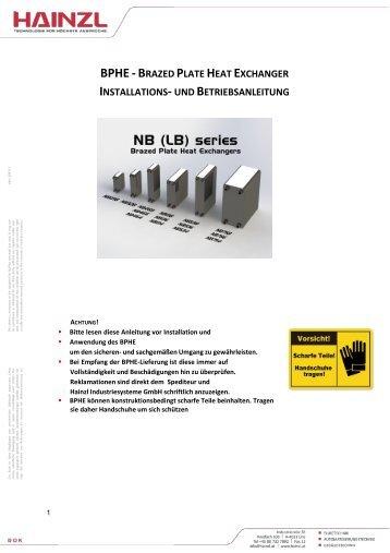 Manual - HAINZL Industriesysteme GmbH