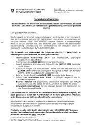 Österreichische Agentur für Gesundheit - Bundesamt für Sicherheit ...