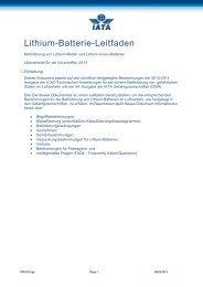 Lithium - IATA