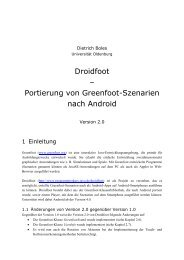 Droidfoot-Handbuch - Universität Oldenburg