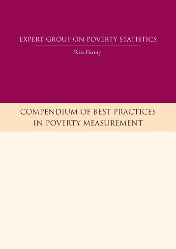 compendium of best practices in poverty measurement - IBGE