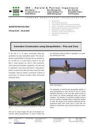 Briefvorlage Geokunststoff GbR - IBH - Herold + Partner Ingenieure