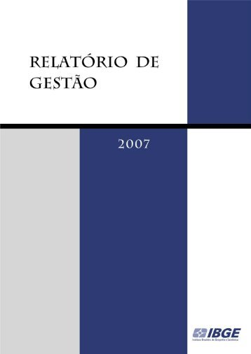 Relatório de Gestão 2007 - IBGE