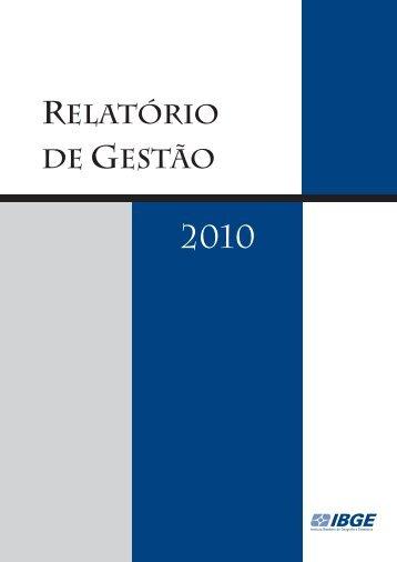 Relatório de Gestão 2010 - IBGE