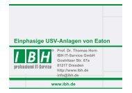 Präsentation - bei der IBH IT-Service GmbH