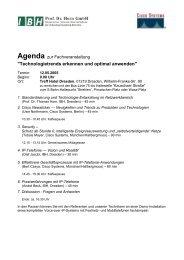 Agenda als PDF - bei der IBH IT-Service GmbH