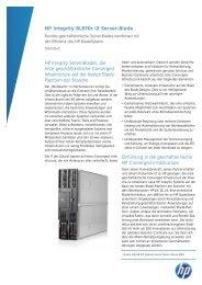 HP Integrity BL870c i2 server blade Data sheet - bei der IBH IT ...