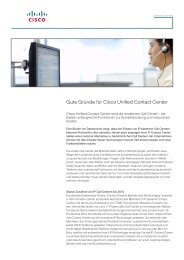 Gute Gründe für Cisco Unified Contact Center - bei der IBH IT ...