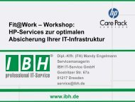 HP Care Pack Services - bei der IBH IT-Service GmbH