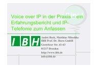 PDF [0,5 MB] - bei der IBH IT-Service GmbH