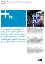 HP OpenView Storage Data Protector Software - bei der IBH IT ...