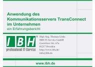 PDF [0,3 MB] - bei der IBH IT-Service GmbH