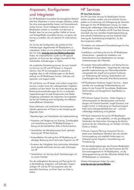 Migrationsleitfaden vom Rack zum HP BladeSystem - bei der IBH IT ...
